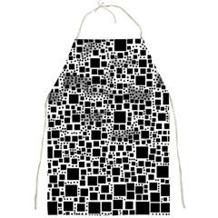 Block On Block, B&w Full Print Aprons