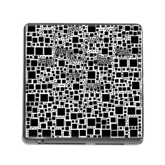 Block On Block, B&w Memory Card Reader (Square)