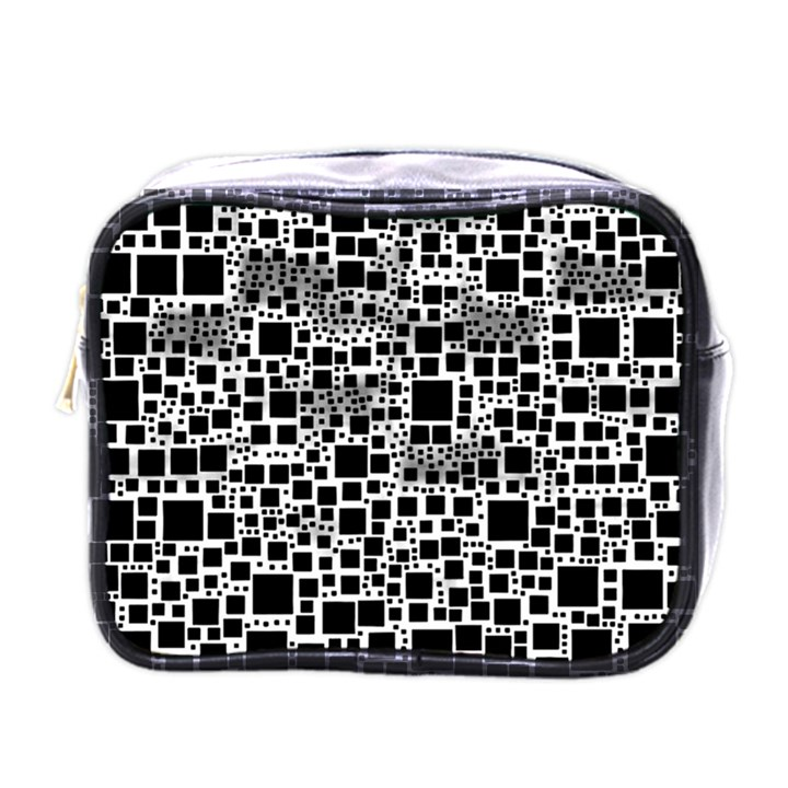 Block On Block, B&w Mini Toiletries Bags