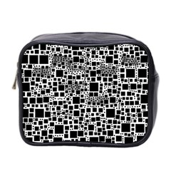 Block On Block, B&w Mini Toiletries Bag 2 Side