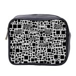 Block On Block, B&w Mini Toiletries Bag 2-Side Front