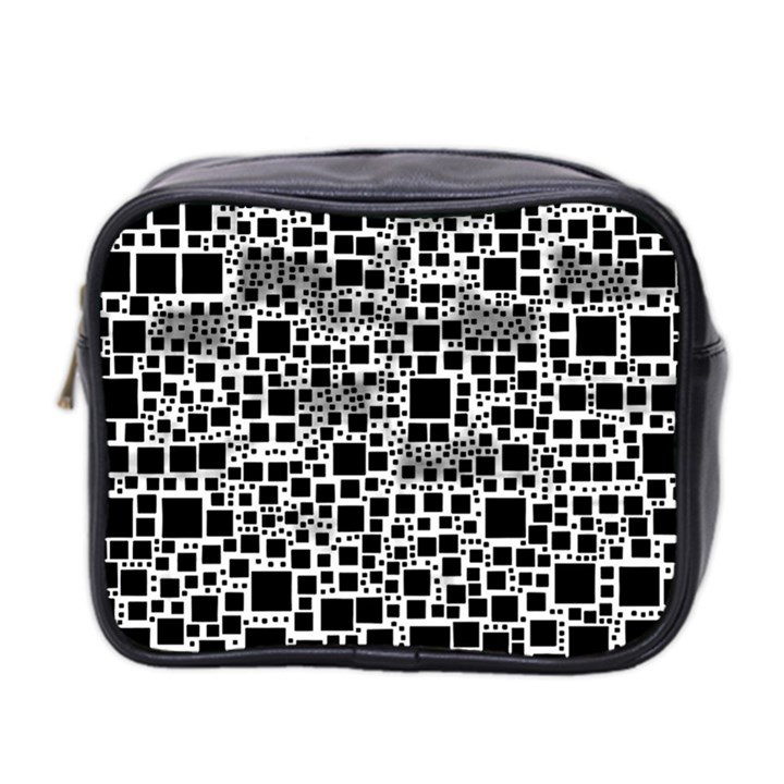 Block On Block, B&w Mini Toiletries Bag 2-Side