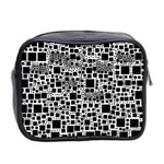 Block On Block, B&w Mini Toiletries Bag 2-Side Back