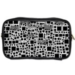 Block On Block, B&w Toiletries Bags 2-Side Front