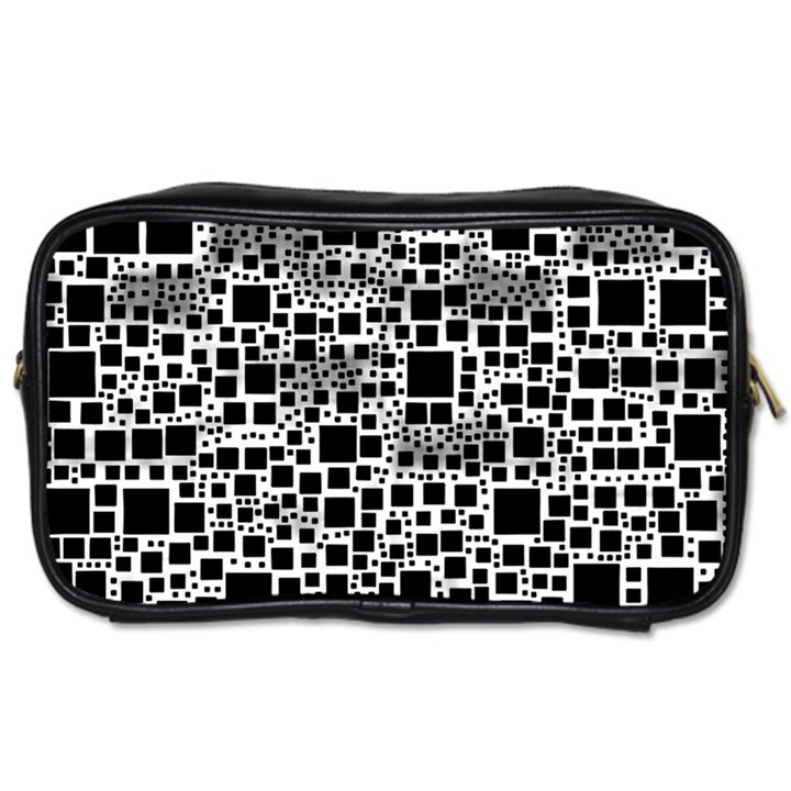 Block On Block, B&w Toiletries Bags 2-Side