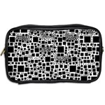 Block On Block, B&w Toiletries Bags 2-Side Back