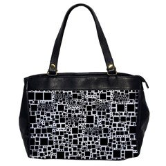 Block On Block, B&w Office Handbags