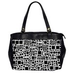 Block On Block, B&w Office Handbags (2 Sides)  Front