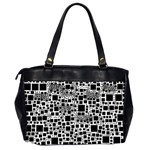 Block On Block, B&w Office Handbags (2 Sides)  Back
