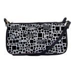Block On Block, B&w Shoulder Clutch Bags Front