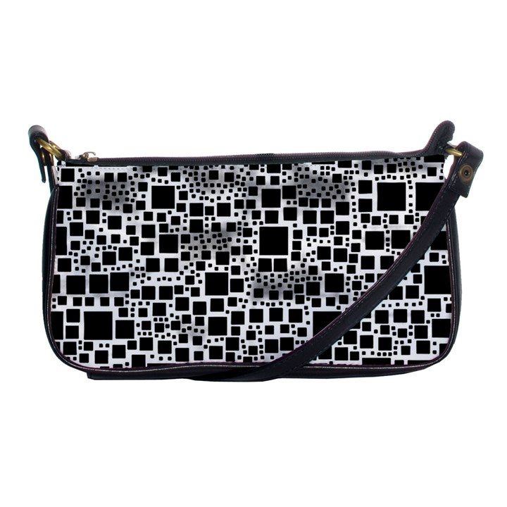 Block On Block, B&w Shoulder Clutch Bags