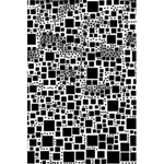 Block On Block, B&w 5.5  x 8.5  Notebooks Back Cover