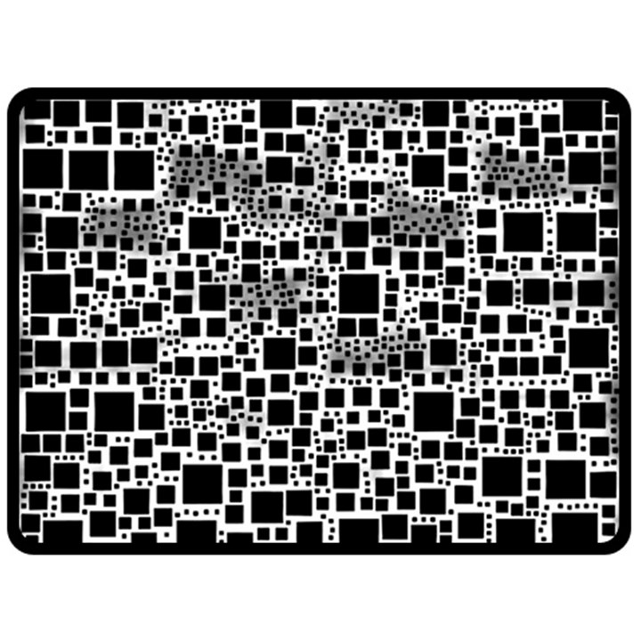 Block On Block, B&w Fleece Blanket (Large)