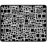 Block On Block, B&w Fleece Blanket (Medium)  60 x50 Blanket Front