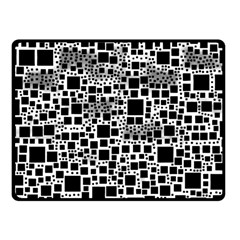 Block On Block, B&w Fleece Blanket (small)