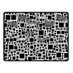 Block On Block, B&w Fleece Blanket (Small) 50 x40 Blanket Front