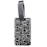 Block On Block, B&w Luggage Tags (Two Sides) Back