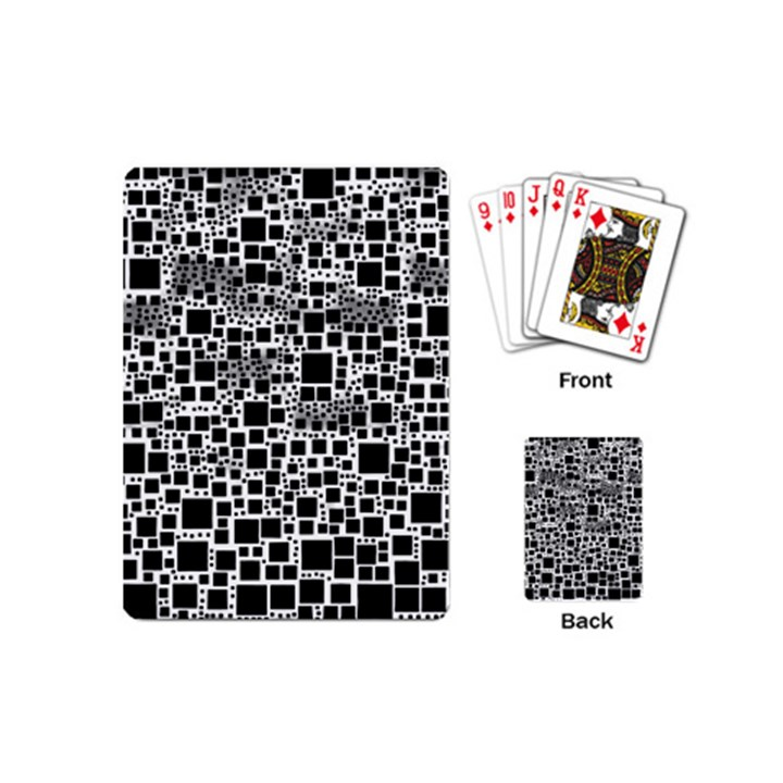 Block On Block, B&w Playing Cards (Mini)