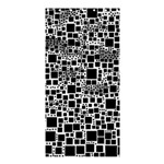Block On Block, B&w Shower Curtain 36  x 72  (Stall)  33.26 x66.24 Curtain