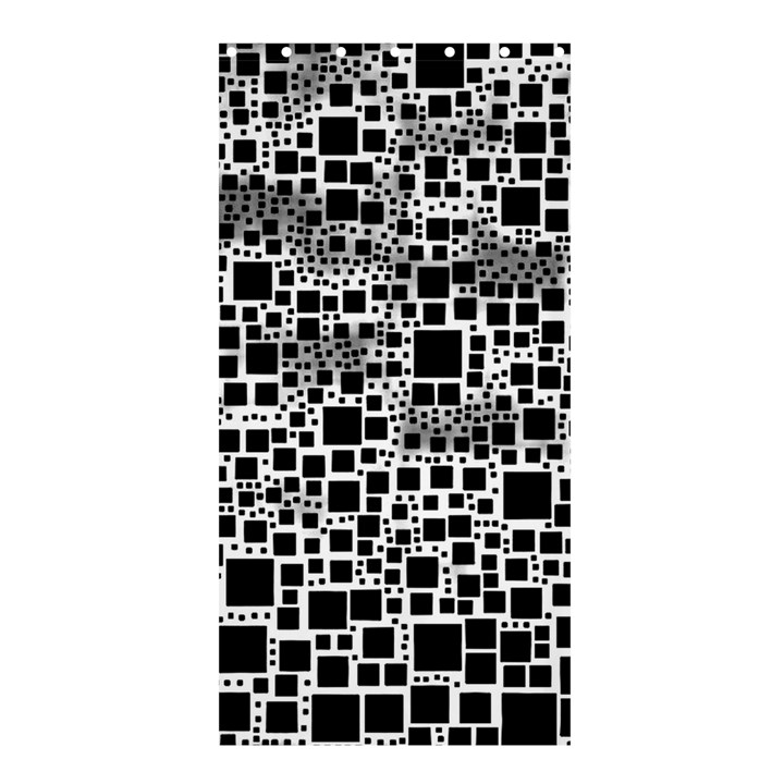 Block On Block, B&w Shower Curtain 36  x 72  (Stall)