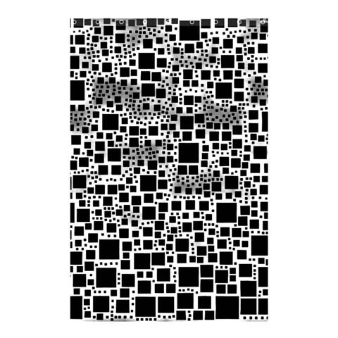 Block On Block, B&w Shower Curtain 48  x 72  (Small)