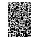 Block On Block, B&w Shower Curtain 48  x 72  (Small)  48 x72 Curtain