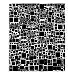 Block On Block, B&w Shower Curtain 60  x 72  (Medium)  54.25 x65.71 Curtain