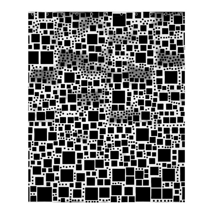 Block On Block, B&w Shower Curtain 60  x 72  (Medium)