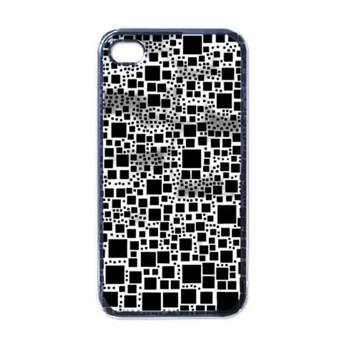 Block On Block, B&w Apple iPhone 4 Case (Black)