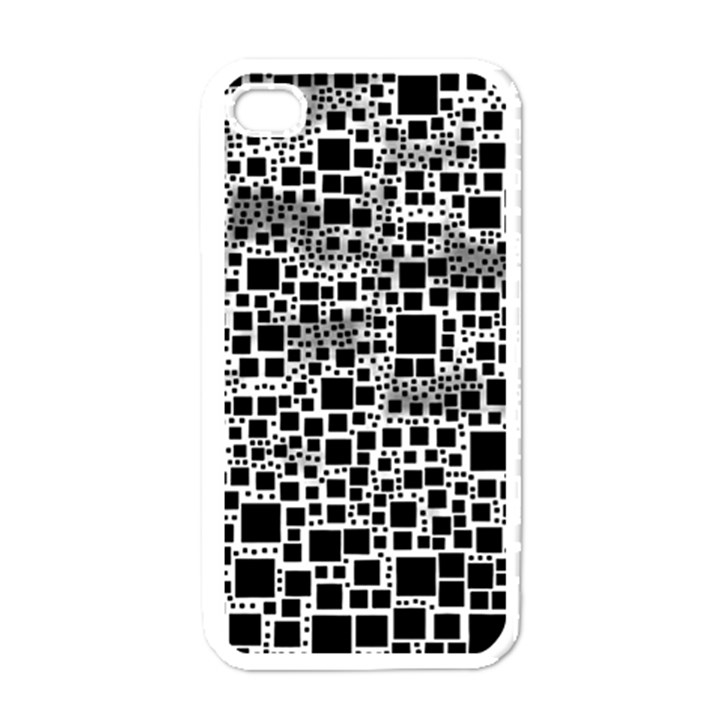 Block On Block, B&w Apple iPhone 4 Case (White)