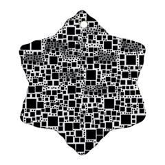 Block On Block, B&w Ornament (snowflake)