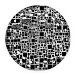 Block On Block, B&w Round Filigree Ornament (2Side) Back