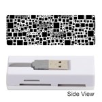 Block On Block, B&w Memory Card Reader (Stick)  Front