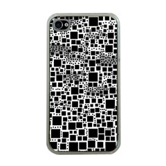 Block On Block, B&w Apple Iphone 4 Case (clear)
