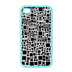 Block On Block, B&w Apple iPhone 4 Case (Color) Front