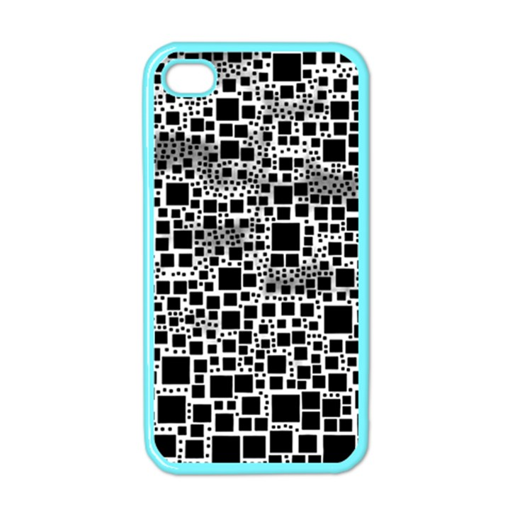 Block On Block, B&w Apple iPhone 4 Case (Color)