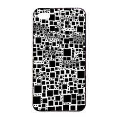 Block On Block, B&w Apple iPhone 4/4s Seamless Case (Black)