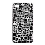 Block On Block, B&w Apple iPhone 4/4s Seamless Case (Black) Front