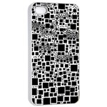 Block On Block, B&w Apple iPhone 4/4s Seamless Case (White) Front