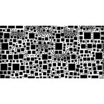 Block On Block, B&w Merry Xmas 3D Greeting Card (8x4) Back