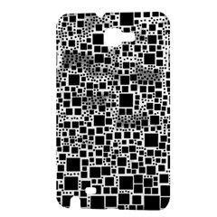 Block On Block, B&w Samsung Galaxy Note 1 Hardshell Case