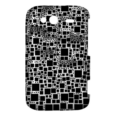 Block On Block, B&w HTC Wildfire S A510e Hardshell Case