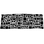 Block On Block, B&w Body Pillow Case (Dakimakura) Body Pillow Case