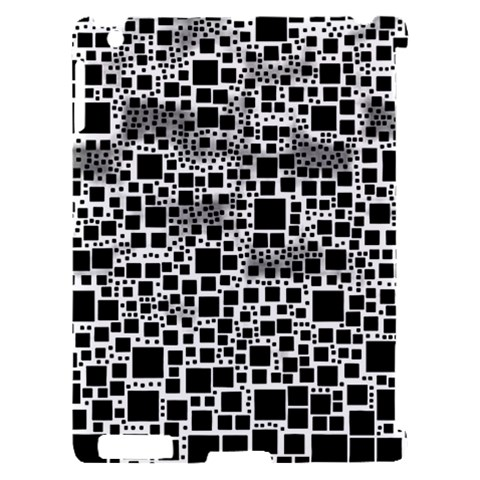 Block On Block, B&w Apple iPad 2 Hardshell Case (Compatible with Smart Cover)