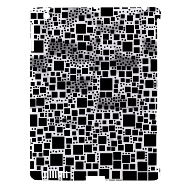 Block On Block, B&w Apple iPad 3/4 Hardshell Case (Compatible with Smart Cover)