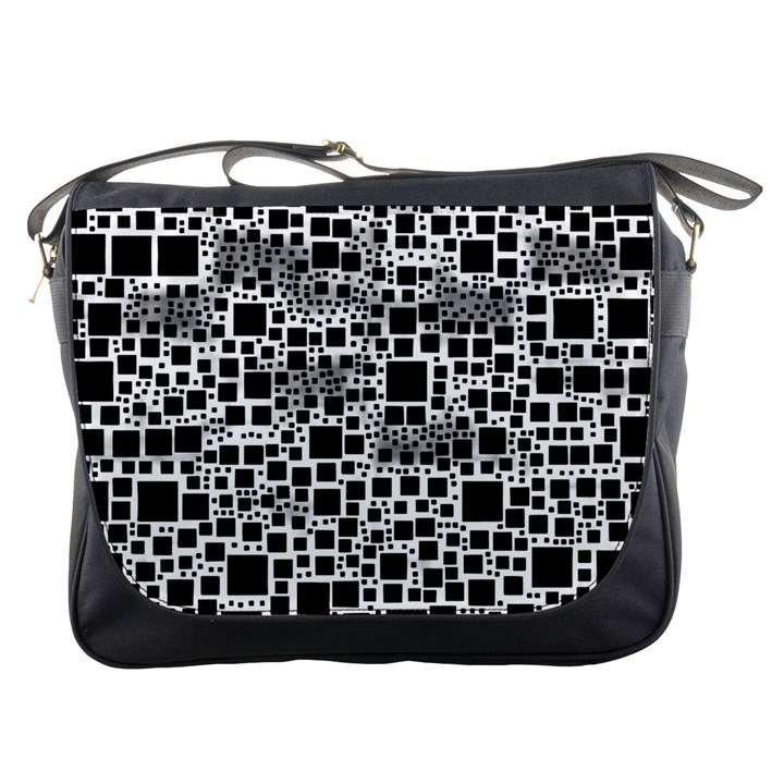 Block On Block, B&w Messenger Bags