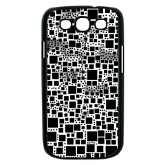 Block On Block, B&w Samsung Galaxy S III Case (Black)