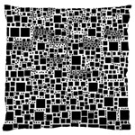 Block On Block, B&w Large Cushion Case (One Side) Front