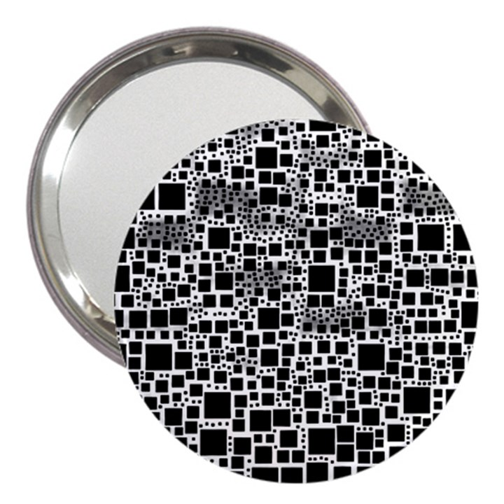 Block On Block, B&w 3  Handbag Mirrors