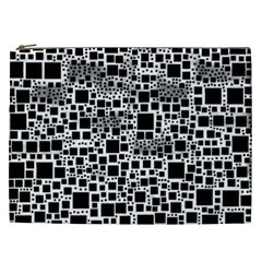Block On Block, B&w Cosmetic Bag (XXL)